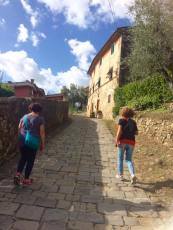 Strolling up towards the Castle at Buggiano